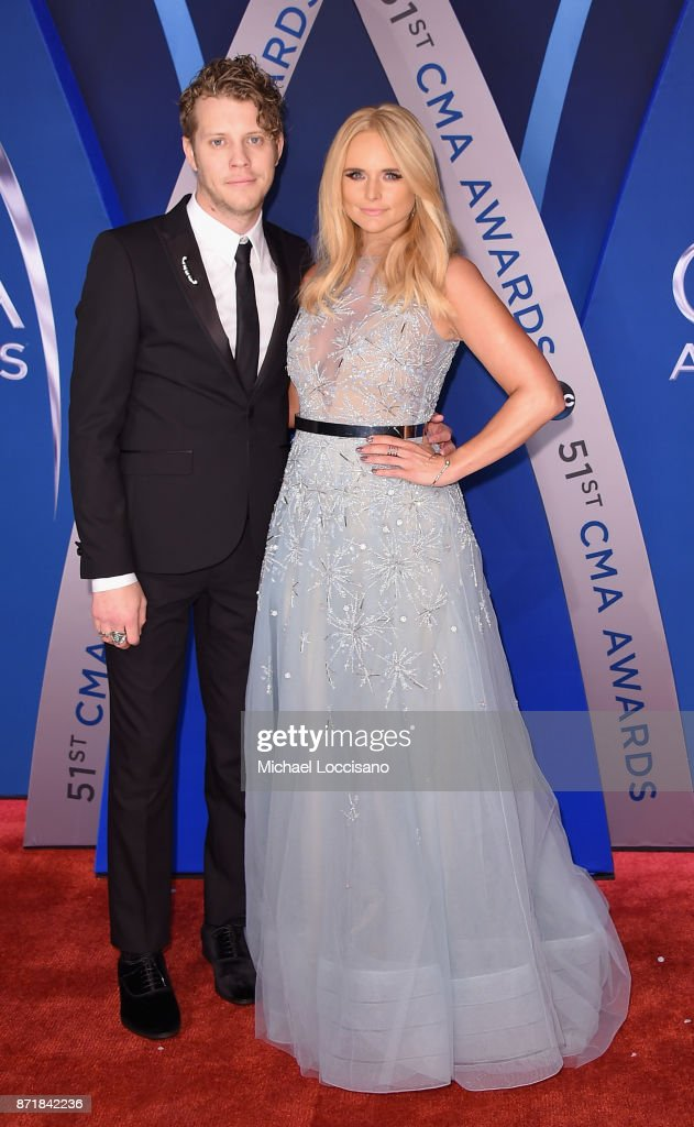 Singer-songwriters Anderson East and Miranda Lambert attend the 51st annual CMA Awards at the Bridgestone Arena on November 8, 2017 in Nashville, Tennessee.