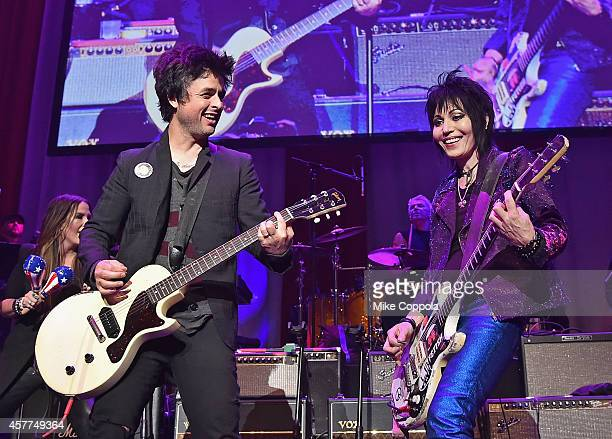 Singer/songwriters Billie Joe Armstrong and Joan Jett perform together at The 6th Annual Little Kids Rock Benefit presented by Guitar Center at the...