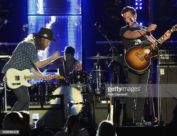 Singer/Songwriters Brothers Osborne perform at CRS New Faces during CRS 2016 Day 3 at The Omni Hotel on February 10 2016 in Nashville Tennessee