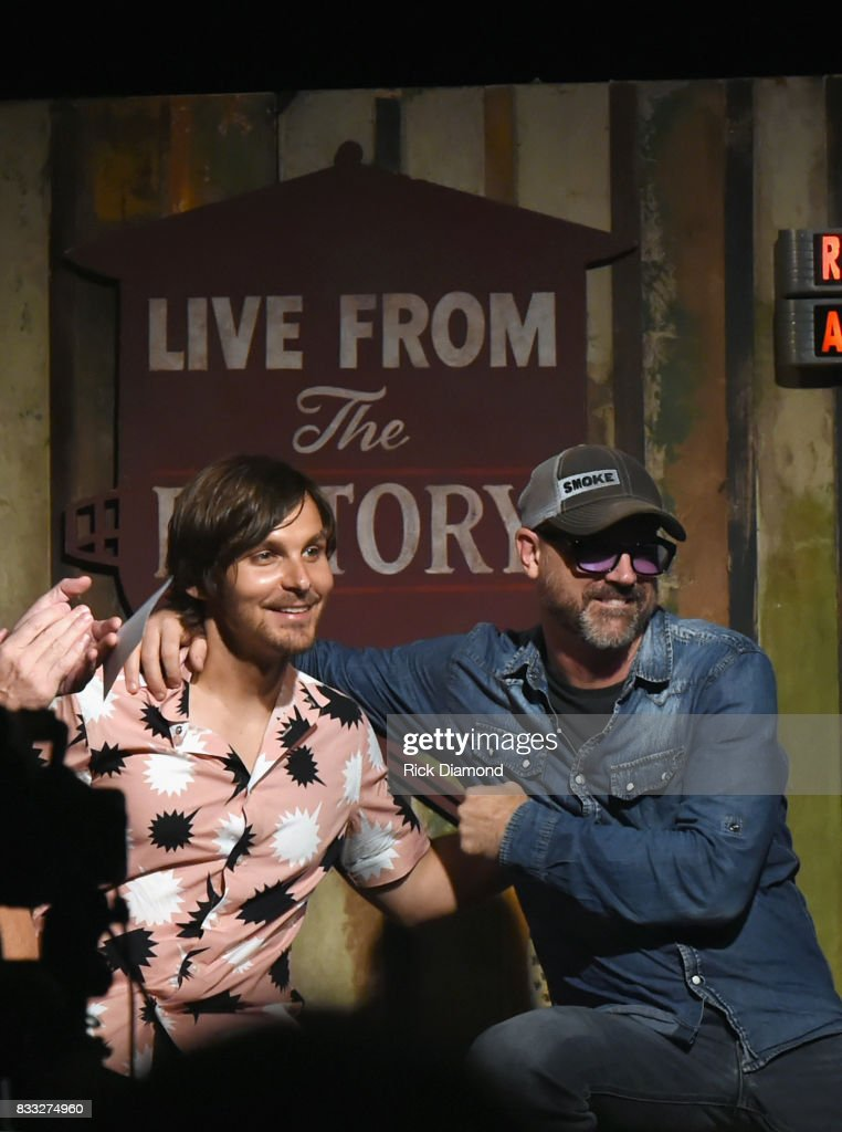 Singer/Songwriters Charlie Worsham and Jon Randall during Music City Roots at The Factory At Franklin on August 16, 2017 in Franklin, Tennessee.