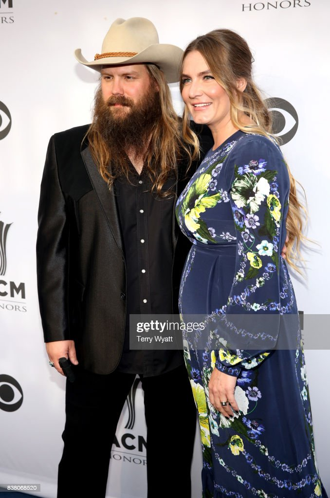 Singer-songwriters Chris Stapleton (L) and Morgane Stapleton (R) attend the 11th Annual ACM Honors at the Ryman Auditorium on August 23, 2017 in Nashville, Tennessee.
