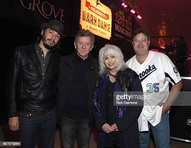 Singer/Songwriters Cory Chisel Rodney Crowell Emmylou Harris and Vince Gill during the 2015 Celebrity Barn Dance a Benefit Concert at The Jaeckle...