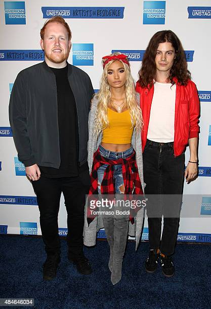 Singer/songwriters Gavin James Pia Mia and BORNS attend American Express UNSTAGED Artists in Residence Summit with BORNS Gavin James and Pia Mia at...