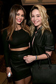Singer/songwriters Jacquie Lee and Bea Miller pose backstage during MTV Artists to Watch at House of Blues Sunset Strip on February 5 2015 in West...