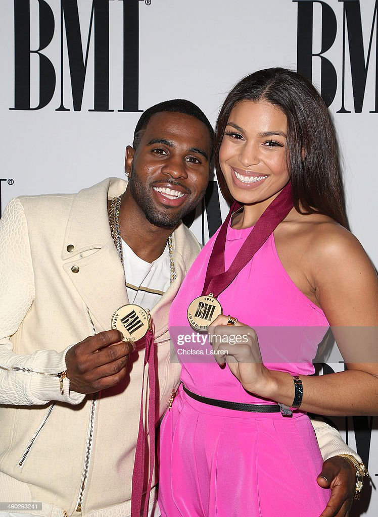 Singer-songwriters <a gi-track='captionPersonalityLinkClicked' href=/galleries/search?phrase=Jason+Derulo&family=editorial&specificpeople=5745869 ng-click='$event.stopPropagation()'>Jason Derulo</a> (L) and <a gi-track='captionPersonalityLinkClicked' href=/galleries/search?phrase=Jordin+Sparks&family=editorial&specificpeople=4165535 ng-click='$event.stopPropagation()'>Jordin Sparks</a> attend the 2014 BMI Pop Awards at the Beverly Wilshire Four Seasons Hotel on May 13, 2014 in Beverly Hills, California.