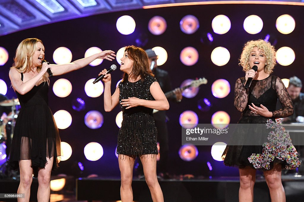 Singers Jennifer Nettles, Martina McBride and Cam perform onstage during the 2016 American Country Countdown Awards at The Forum on May 1, 2016 in Inglewood, California.