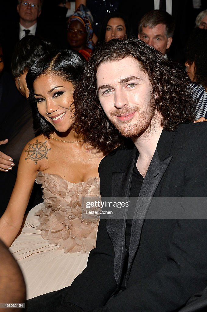 Singersongwriters Jhene Aiko and Hozier during The 57th Annual GRAMMY Awards at STAPLES Center on February 8 2015 in Los Angeles California