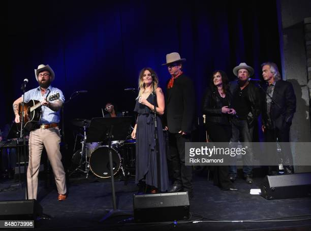 Singer/Songwriters Josh Hedley Elizabeth Cook Chuck Mead Brandy Clark Jack Ingram and Jim Lauderdale perform during the 18th Annual Americana Music...