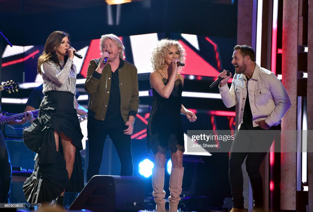 Singer-songwriters Karen Fairchild, Philip Sweet, Kimberly Schlapman and Jimi Westbrook of Little Big Town perform onstage at the 2017 CMT Artists Of The Year on October 18, 2017 in Nashville, Tennessee.