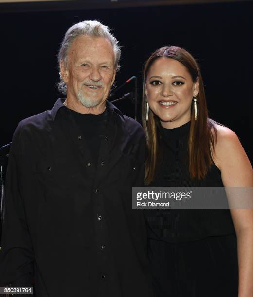 Singer/Songwriters Kris Kristofferson and Hillary Lindsey ONLY 3 time Songwriter of the Year recipients attend NSAI 50 Yearsof Songs at Ryman...