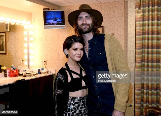 Singersongwriters Maren Morris and Ryan Hurd attend the 2017 AIMP Nashville Awards on May 8 2017 in Nashville Tennessee