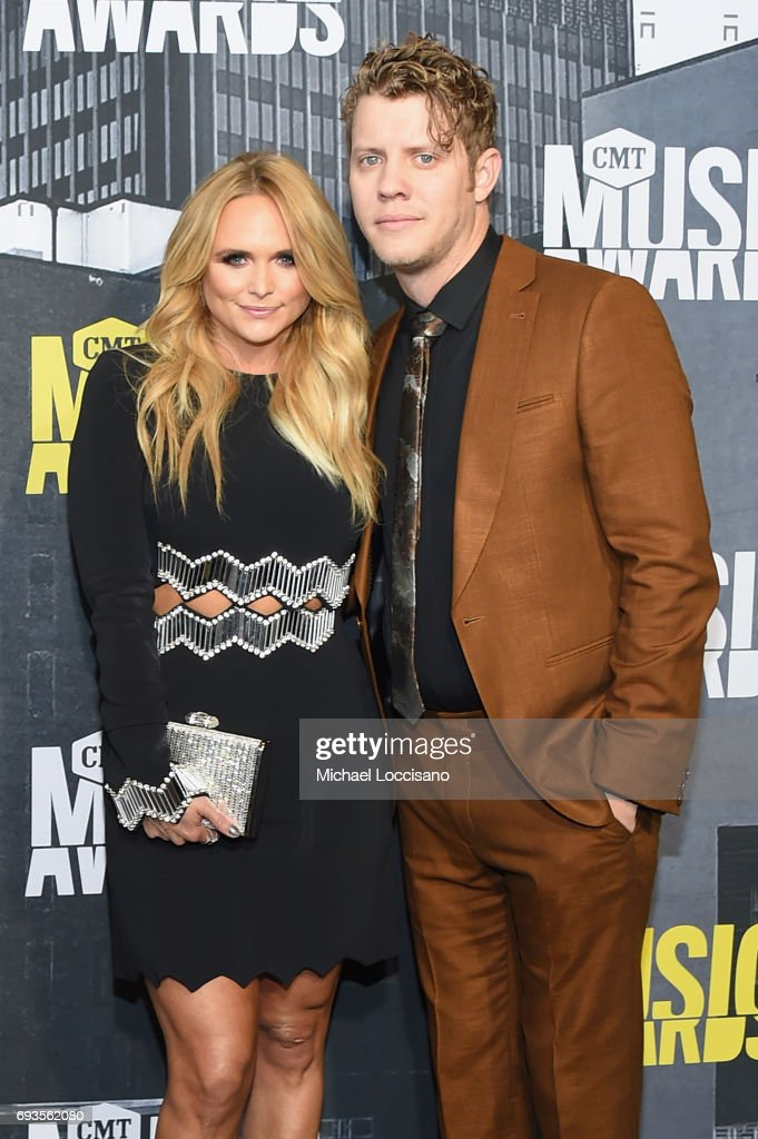 Singer-songwriters Miranda Lambert and Anderson East attend the 2017 CMT Music awards at the Music City Center on June 7, 2017 in Nashville, Tennessee.