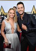 Singersongwriters Miranda Lambert and Luke Bryan attend the 50th Academy of Country Music Awards at ATT Stadium on April 19 2015 in Arlington Texas