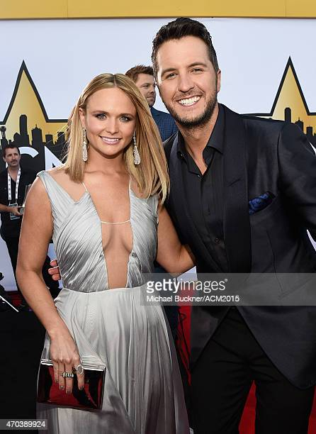 Singersongwriters Miranda Lambert and Luke Bryan attend the 50th Academy Of Country Music Awards at ATT Stadium on April 19 2015 in Arlington Texas