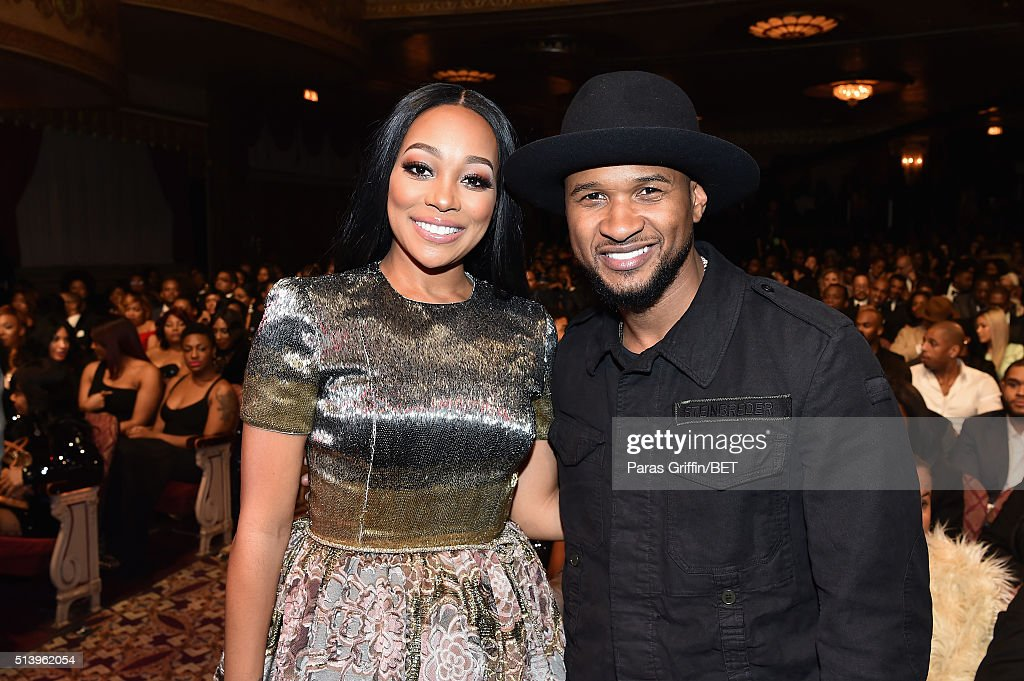Singersongwriters Monica and Usher attend the BET Honors 2016 Show at Warner Theatre on March 5 2016 in Washington DC