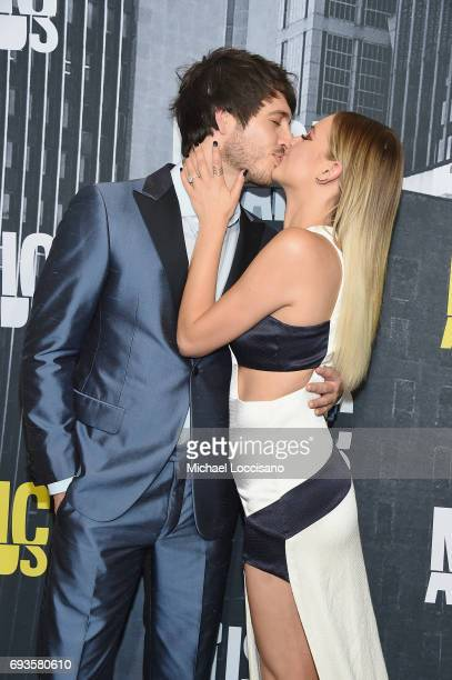 Singersongwriters Morgan Evans and Kelsea Ballerini attend the 2017 CMT Music Awards at the Music City Center on June 7 2017 in Nashville Tennessee