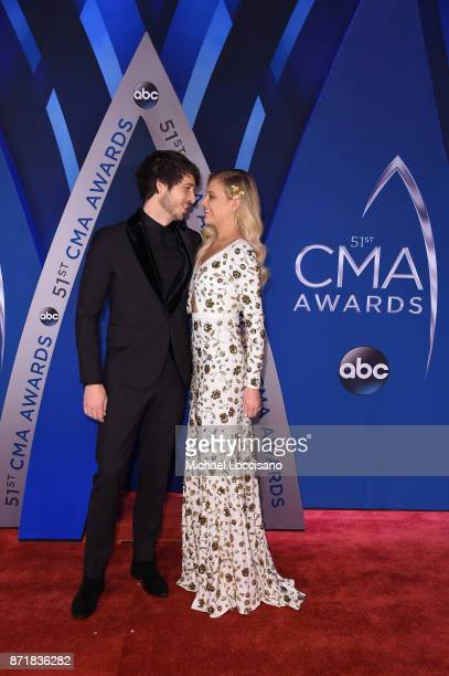 Singersongwriters Morgan Evans and Kelsea Ballerini attend the 51st annual CMA Awards at the Bridgestone Arena on November 8 2017 in Nashville...