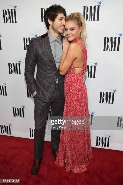 Singersongwriters Morgan Evans and Kelsea Ballerini attend the 65th Annual BMI Country awards on November 7 2017 in Nashville Tennessee