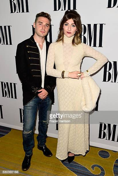 Singer/songwriters Nick Noonan and Amy Noonan of Karmin attend The 64th Annual BMI Pop Awards honoring Taylor Swift and songwriting duo Mann Weil at...