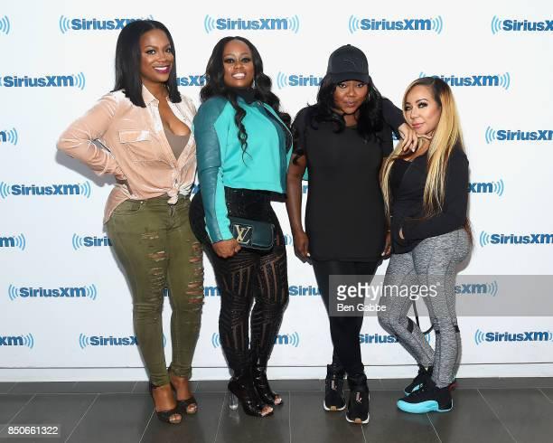Singersongwriters of Xscape Kandi Burruss Tamika Scott LaTocha Scott and Tameka 'Tiny' Cottle visit SiriusXM Studios on September 21 2017 in New York...