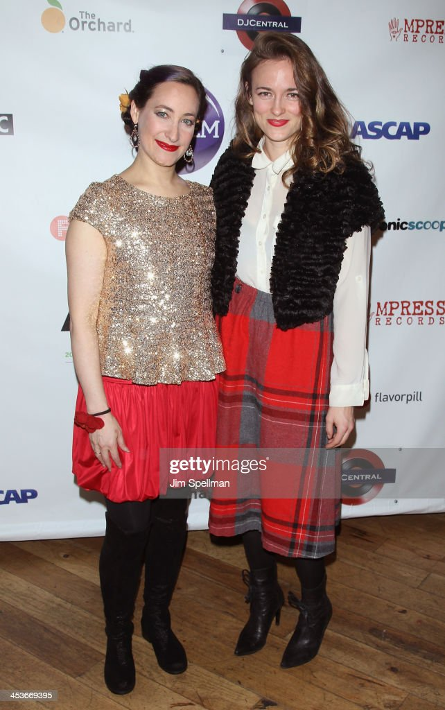 Singer/songwriters Rachael Sage and Dawn Landes attend the Women In Music presents their 2013 holiday party at Le Poisson Rouge on December 4, 2013 in New York City.