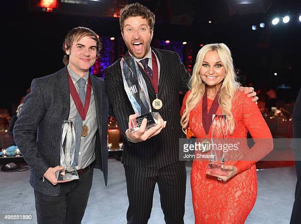 Singersongwriters Ross Copperman Brett Eldredge and Heather Morgan attend the BMI 2015 Country Awards at BMI on November 3 2015 in Nashville Tennessee