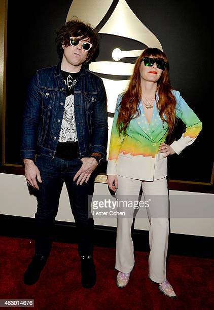 Singersongwriters Ryan Adams and Jenny Lewis attend The 57th Annual GRAMMY Awards at the STAPLES Center on February 8 2015 in Los Angeles California