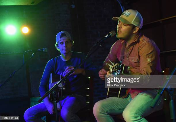 Singer/Songwriters Trea Landon and Cole Taylor perform during Jameson Peach Jam presented by Jameson Irish Whiskey Proceeds benefit The Georgis Music...