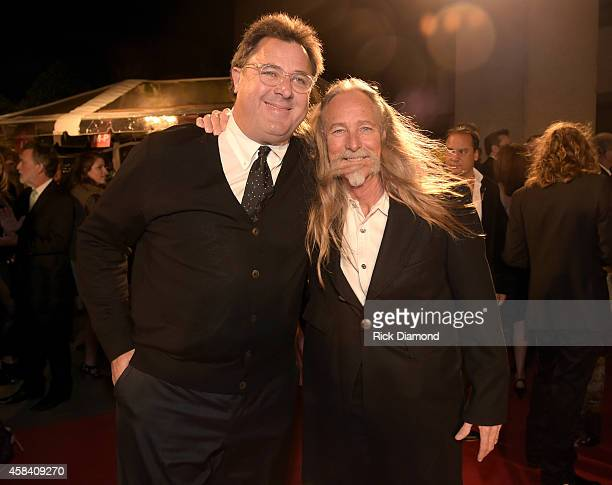 Singersongwriters Vince Gill and Dean Dillon attend the BMI 2014 Country Awards at BMI on November 4 2014 in Nashville Tennessee