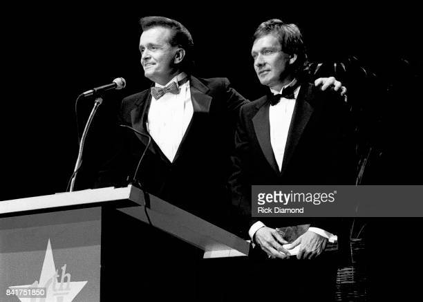 Singer/Songwriters Whispering Bill Anderson and Billy Joe Royal during The Georgia Music Hall of Fame Awards at The Georgia World Congress Center in...