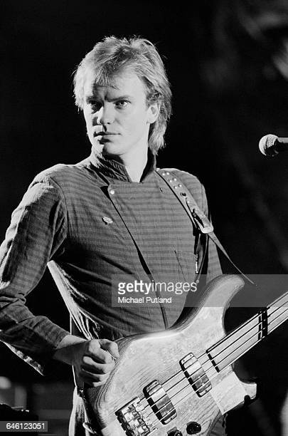 Singersongwritrer and bass guitarist Sting performing with English new wave group The Police on the 'Don Kirshner's Rock Concert' TV show Los Angeles...
