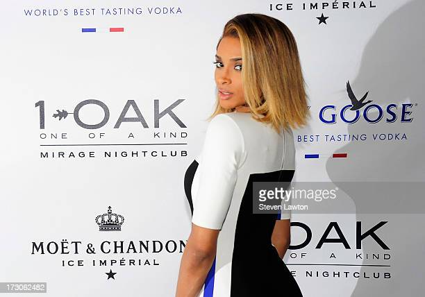 Singer/songwritter Ciara arrives at 1 OAK Nightclub at The Mirage Hotel Casino on July 5 2013 in Las Vegas Nevada