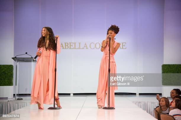 Singers/sisters Chloe Bailey and Halle Bailey of the RB duo Chloe X Halle perform onstage at the Ladylike Foundation's 9th Annual Women Of Excellence...