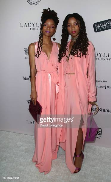 Singers/sisters Halle Bailey and Chloe Bailey of the RB duo Chloe X Halle attend the Ladylike Foundation's 9th Annual Women of Excellence Awards gala...