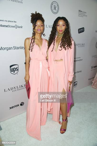 Singers/sisters Halle Bailey and Chloe Bailey of the RB duo Chloe X Halle attend the Ladylike Foundation's 9th Annual Women Of Excellence at The...