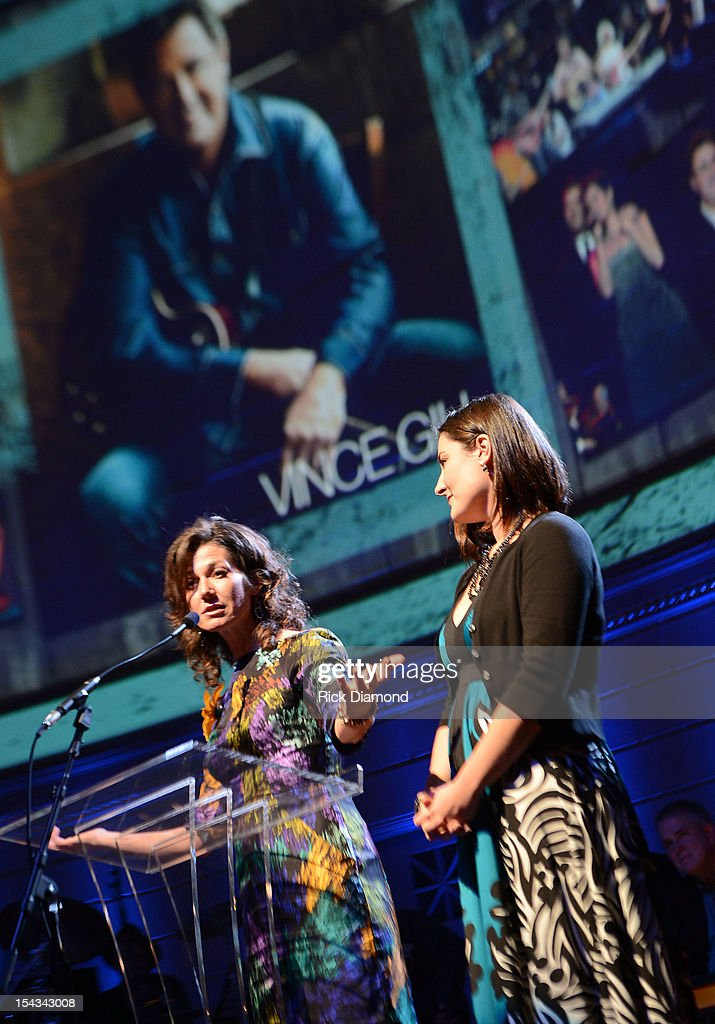 Singers/Songwriters Amy Grant and Jenny Gill present at the 2012 Leadership Music Dale Franklin awards at War Memorial Auditorium on October 17 2012...