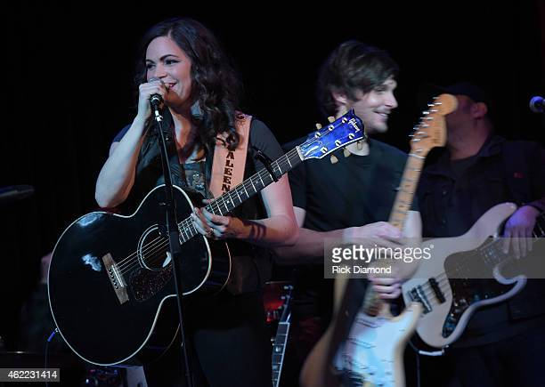 Singers/Songwriters Charlie Worsham and Angaleena Presley performs during Nashville Sunday Night featuring Angaleena Presley at 3rd Lindsley on...