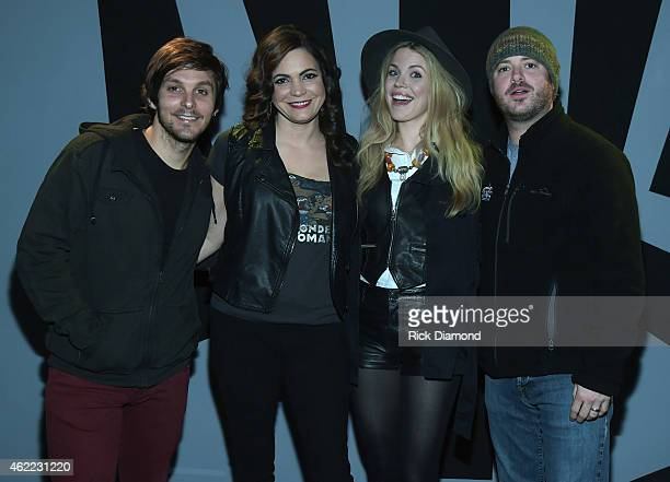 Singers/Songwriters Charlie Worsham Angaleena Presley and Wade Bowen attend Nashville Sunday Night featuring Angaleena Presley at 3rd Lindsley on...