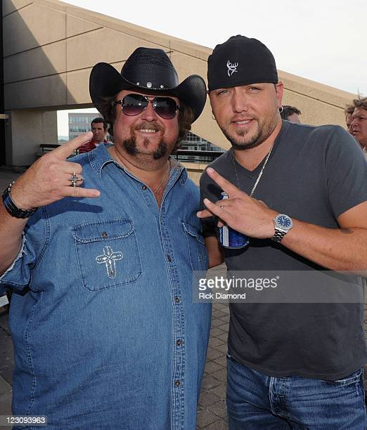 Singers/Songwriters Colt Ford and Jason Aldean during the BMI Party honoring 'Dirt Road Anthem' Performed By Jason Aldean written by Colt Ford and...