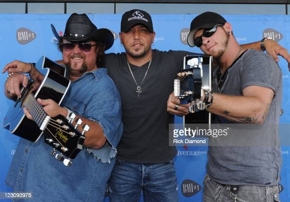 Singers/Songwriters Colt Ford Jason Aldean and Brantley Gilbert during the BMI Party honoring 'Dirt Road Anthem' Performed By Jason Aldean written by...
