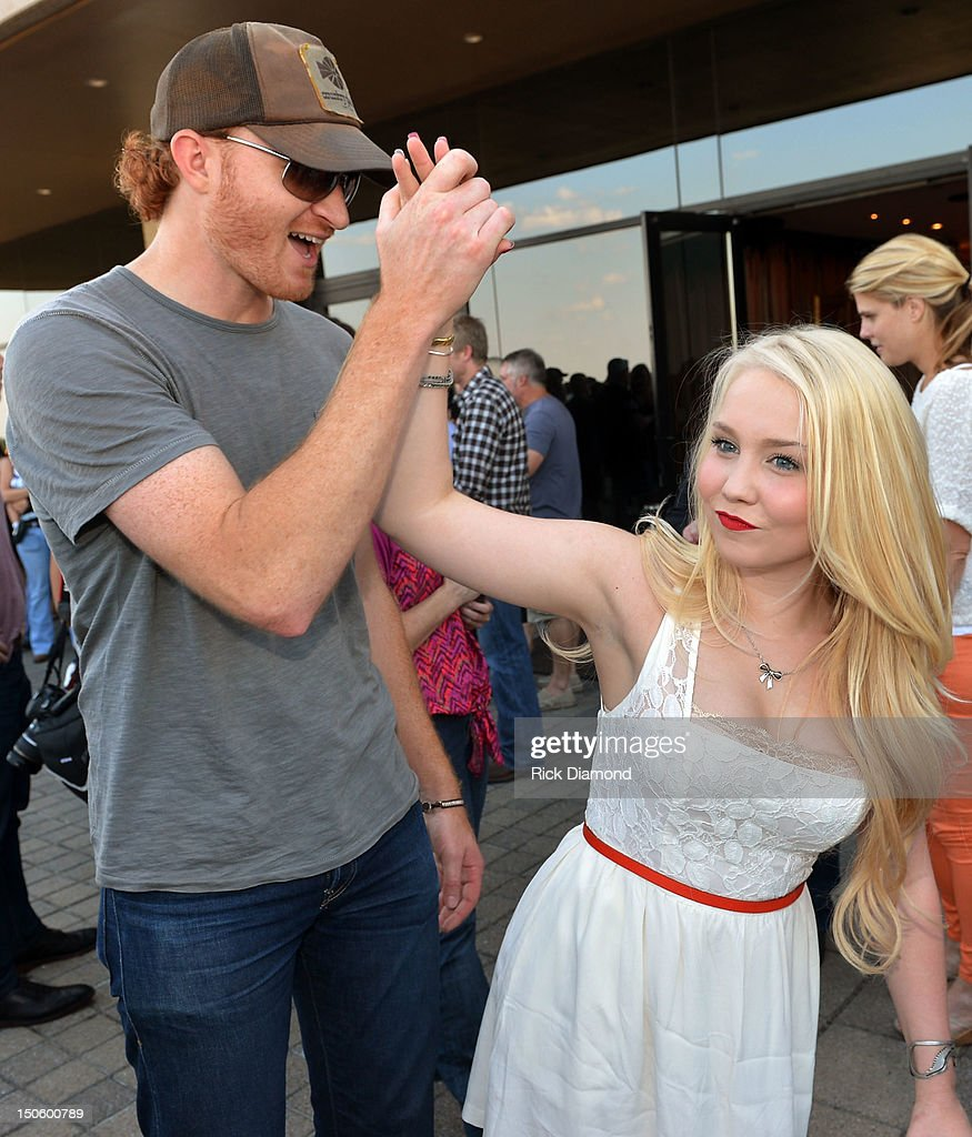 Singers/Songwriters Eric Paslay and RaeLynn The Voice attend BMI #1 Party For Singer/Co-Writer Brantley Gilbert and Co-Writer Jim McCormick for 'You Don't Know Her Like I Do' At BMI Nashville on August 22, 2012 in Nashville, Tennessee.