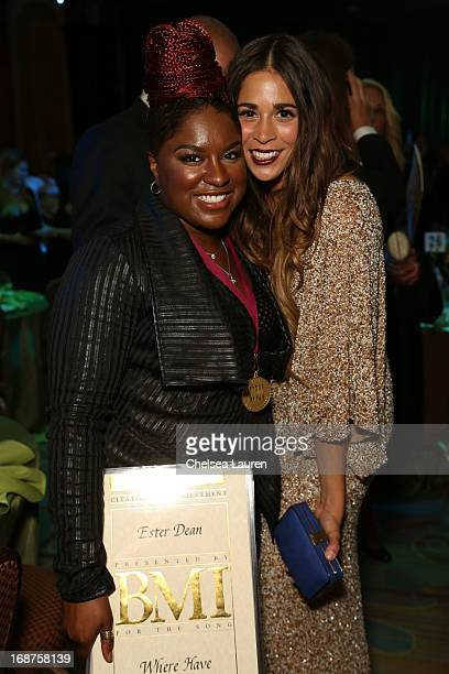 Singers/Songwriters Ester Dean and Ali Tamposi attend the 2013 BMI Pop Awards at the Beverly Wilshire Four Seasons Hotel on May 14 2013 in Beverly...