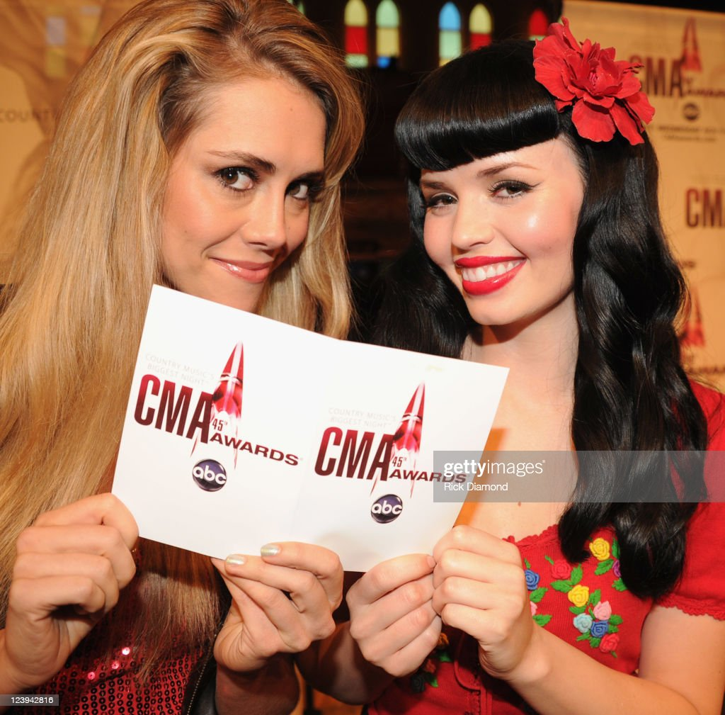 Singers/Songwriters JaneDear Girls L/R; Danelle Leverett and Susie Brown help announce The 2011 CMA Awards nominations held at the Ryman Auditorium on September 6, 2011 in Nashville, Tennessee. The 45th Annual CMA Awards airs LIVE Wednesday, November 9, at 8|7c on ABC.
