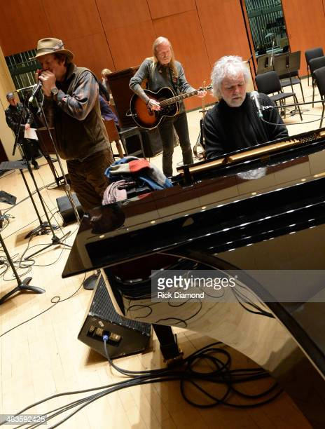 Singers/Songwriters Jimmy Hall Gregg Allman and Chuck Leavell at rehearsals for 'Celebrating Georgia With Chuck Leavell Friends' at Atlanta Symphony...