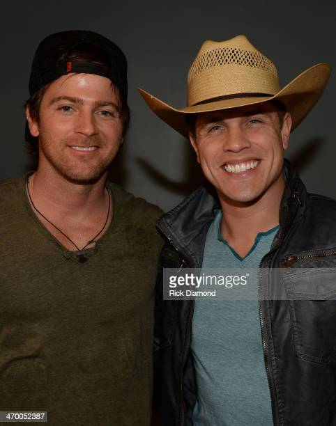 Singers/Songwriters Kip Moore and Dustin Lynch backstage during the 5th annual Country Music Is Love concert to benefit City of Hope at The Listening...