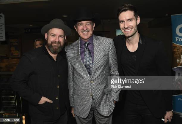Singers/Songwriters Kristian Bush Kix Brooks and David Fanning attend 2017 CMA Music Teachers Of Excellence Dinner at Nissan Stadium on April 26 2017...