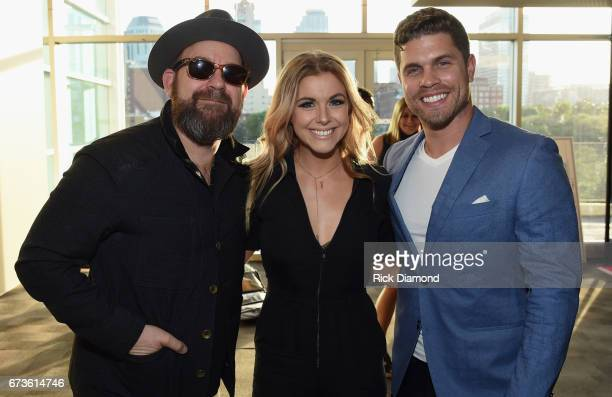 Singers/Songwriters Kristian Bush Lindsay Ell and Dustin Lynch attend 2017 CMA Music Teachers Of Excellence Dinner at Nissan Stadium on April 26 2017...