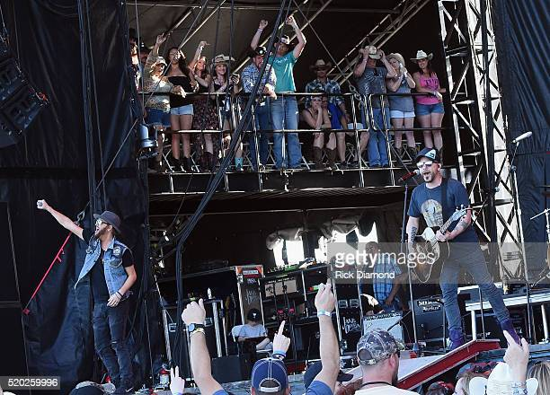 Singers/Songwriters LOCASH Chris Lucas and Preston Brust perform at County Thunder Music Festivals Arizona Day 3 on April 9 2016 in Florence Arizona
