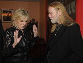 Singers/Songwriters Lucinda Williams and Gregg Allman backstage at the 10th Americana Music Association honors and awards at the Ryman Auditorium on...