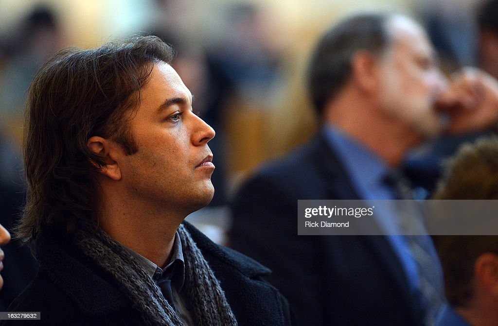 Singers/Songwriters Luke Hoge attend the memorial service for Mindy McCready at Cathedral of the Incarnation on March 6, 2013 in Nashville, Tennessee. McCready was found dead from an apparent suicide on February 17, 2013 at her home in Heber Springs, Arkansas.